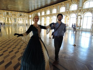With Catherine at Catherine's Palace